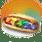 Сладкий сэндвич с радужными грибами