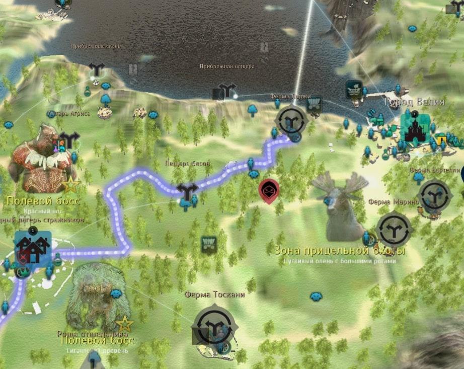Камелия Лоджи на карте