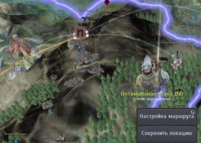 Селение красных волков на карте