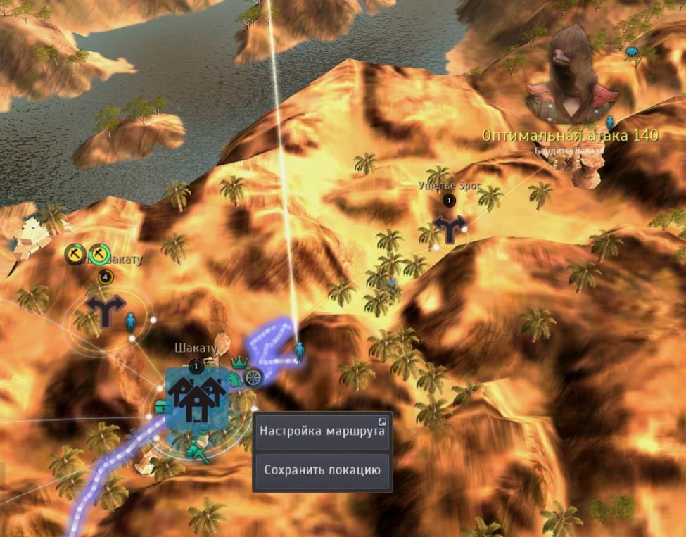 Шакату на карте