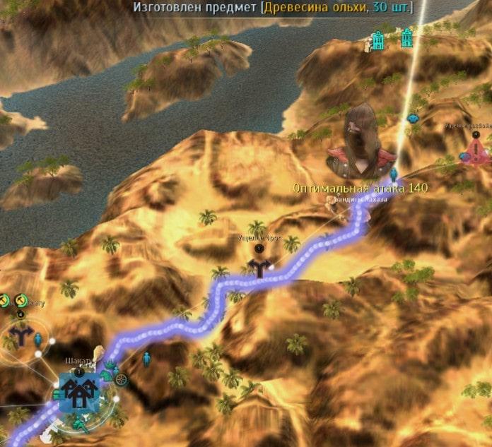 Управляющий узлом ущелье разбойников Рафа на карте
